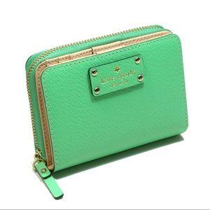 SALE - Kate Spade Wellesley Cara Wallet in Green
